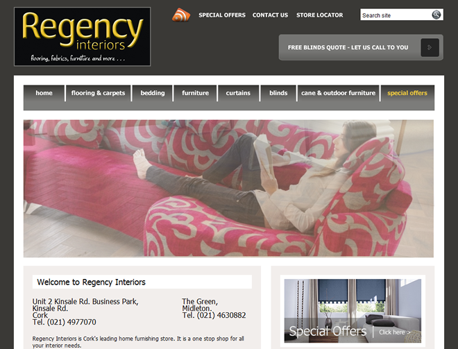 Regency Interiors homepage