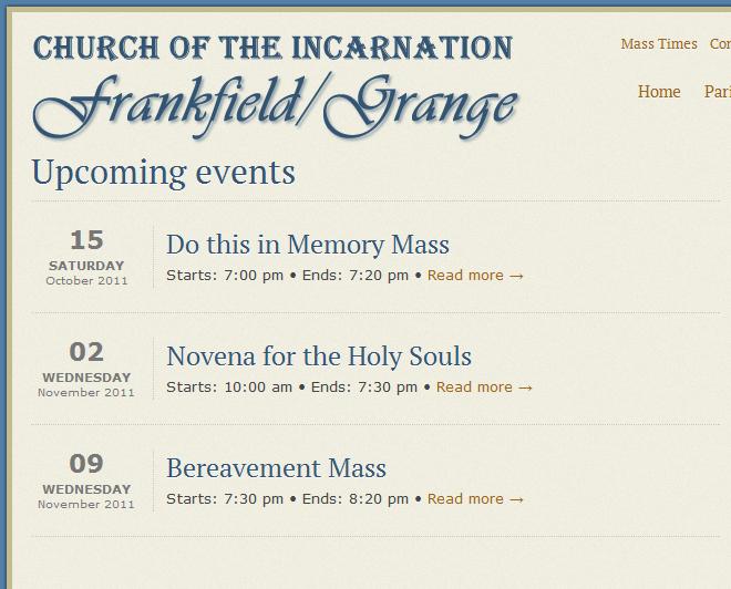 Frankfield Parish Events