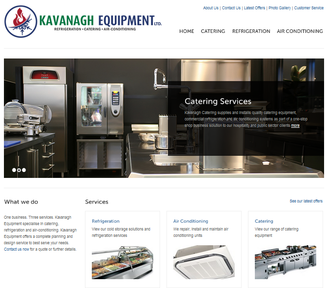 Kavanagh Equipment homepage
