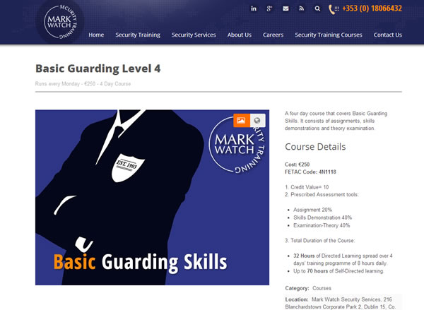 Markwatch security training page
